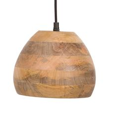 Dutchbone Woody hanglamp, Bruin