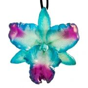 Teal- Cattleya Necklace $45