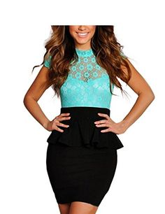New Trending Formal Dresses: FASHION LOVER Women's Lace Cap Sleeve Open Back Night Club Bodycon Dress Size M Green. Special Offer: $17.99 amazon.com The size is from Tile measuring to Stretch measuring Size: There are 2 sizes (M/L) available for the following listing Size M, Bust 26″-37″ /Waist 23.6″-29″/Length 33″/Hip 32″-40″ Size L, Bust 27.5″-40″...