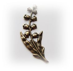 Lily Of The Valley Flower Spray Antique Ox Brass Finish - BOX ...