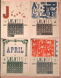 dada calendar, etsy