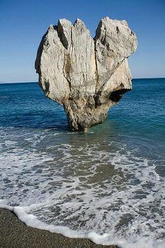 Heart Shaped Stone in Crete, Greece
