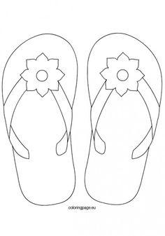 Flip flop pattern. Use the printable outline for crafts
