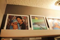 Fun idea: Have pictures of past bath times with your kids hanging in the bathroom!!!