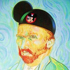 Some art humor for you, what Van Gogh would look like as a mouseketeer :)