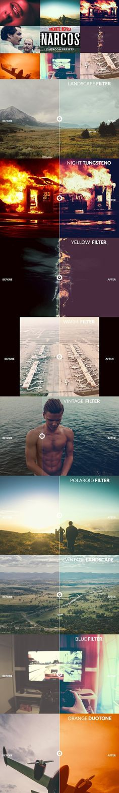 NARCOS - Cinematic Lightroom Presets. Actions. $15.00