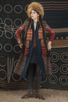 Antique wool vest reversed ,with velvet applied panels Singkiang inventory for sale