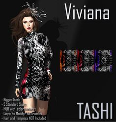 TASHI @ Mahasiah Fashion Week  Today, Sunday March 29th 2015 at 3 pm SLT the Mahasiah Fashion week will start, more than 40 designers and 33 models together to offer you great designs.  TASHI is one of the designers participating at this event and we have 4 new items that will be available at this event.  Mahasiah Fashion Week http://maps.secondlife.com/secondlife/Music%20Island/14/47/3106