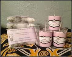 Lavender Infused Bath Salt & Lavender Infused Votive Candle Gift Set ~ Ritual Bath Salts ~ Relaxing Lavender Scent ~ Aromatherapy by SummerlandBB