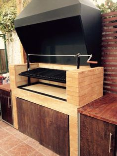 "Visit our web site for even more relevant information on ""outdoor kitchen designs layout patio"". It is actually an outstanding location for more information. Outdoor Bbq Kitchen, Outdoor Grill Area, Outdoor Barbeque, Outdoor Cooking Area, Bbq Area, Outdoor Kitchen Design, Parrilla Exterior, Brick Bbq, Summer Kitchen"
