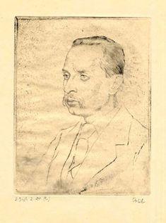 Portrait of Rainer Maria Rilke - Emil Orik Rainer Maria Rilke, Hermann Hesse, Gustav Klimt, Tolkien, Gouache, Portraits, Art And Architecture, Japanese Art, Pastels