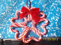 Mini candy cane wreath