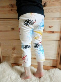 Scribbles baby and kid leggings. Screen by DoubleYellowLine