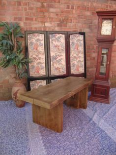 ♥*SALE* 6CM THICK 4ft Rustic Reclaimed Pine Dining Plank Top Table Chair BENCH ♥