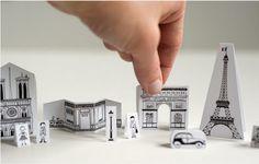 Mini Cidade de Papel para Imprimir e Colorir