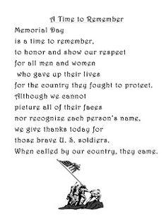 Memorial Day Poems 1