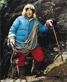 Everest Sherpa-the mountain unsung heroes. These guys are truly men of the mountain. It has been scientifically proven that their hearts and lungs are larger than the average human being enabling them to work at high altitudes with ease.
