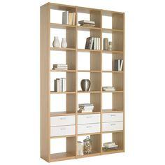 REGAL in 146,6/250/35 cm Creme, Eichefarben, Sandfarben - Regale & Wandboards - Beimöbel - Wohn- & Esszimmer - Produkte