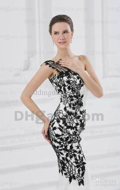 wedding dresses white Vintage Style Black Applique chiffon v-neck bridal wedding Gown n308