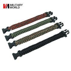 Tactical Military Hunting Parachute Survival Emergency Strap Bracelet Airsoft Shooting Sport Waistband Hiking Travel Kits