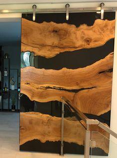 Live Edge Resin Doors Stunning River Doors Custom Made for | Etsy Resin And Wood Diy, Epoxy Resin Wood, Epoxy Wood Table, Resin Table, Barn Door Designs, Resin Furniture, Modern Rustic Decor, Live Edge Wood, Wood Slab