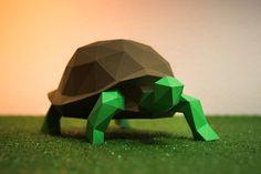 DIY Turtle 3D model template - Templates - 1
