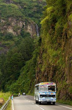 Public bus on road to Ella, Sri Lanka | Flickr - by Sander Groen