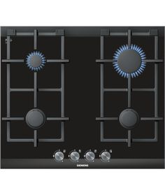 iQ700 Gas hob ER626PB70E stainless steel  Siemens gas cooktop comes with a heat-resistant, easy-to-clean glass ceramic surface. Dishwasher proof pan supports are extremely easy to remove and clean in the dishwasher. High-quality materials and workmanship have gone into making Siemens continuous cast-iron pan supports. Siemens burner design is extremely flat in comparision to a standard burner.