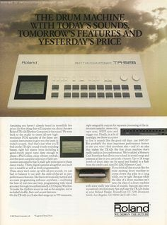 MATRIXSYNTH: 1988 Roland TR-626 Electronic Musician Ad