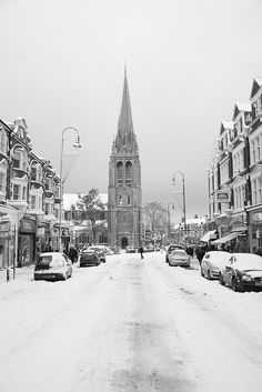 Muswell Hill, London N10 by Mathew DC, via Flickr. This is St James' Church at the end of the Broadway.