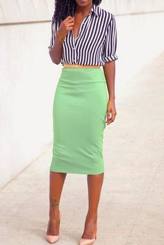 ​24 Gorgeous And Girlish Pencil Skirt Outfits For Work: Styleoholic waysify