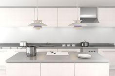 Image result for white kitchen grey benchtop
