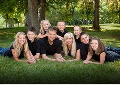.Cute family pose.