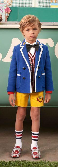 23a57434de3ac1 Gucci Boy Blue   White Suit Coat   Yellow Shorts for Spring Summer 2018.  Super