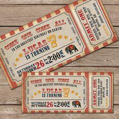 Circus Invitation Vintage Ticket