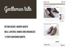 Gentleman PSD retina blog template by Knofl store on @creativemarket