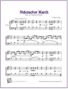 March (Nutcracker) | Free Sheet Music for Piano - http://makingmusicfun.net/htm/f_printit_free_printable_sheet_music/nutcracker-march-piano-solo.htm