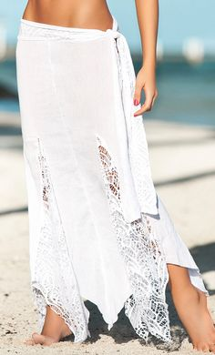 Boho wrap skirt.this is what I want this summer.I'm not into having my booty hanging out in itty bitty bikinis.