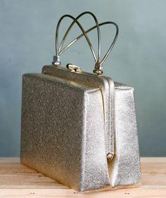 Vintage Silver Handbag. $12.00, via Etsy.