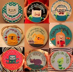 Adventure time embroidery ideas