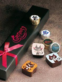 Cat chocolate #design #decoration