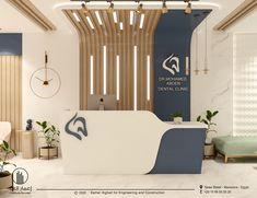 Dental Office Decor, Medical Office Design, Clinic Interior Design, Clinic Design, Design Clinique, Waiting Room Design, Waiting Rooms, Reception Desk Design, Dental Design