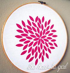 iron-on embroidery hoop art