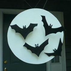 DIY Batty Glow in the Dark Moon