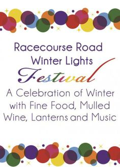The RACECOURSE FESTIVAL-WINTER LIGHTS, is on again this year and is set to be bigger and better than ever!   Held on Saturday 14th June along Racecourse Road, from 10am-8pm. This family even will hold an array of public activities including lantern making, face painting, an animal farm for the children and more. There will also be a select variety of gourmet food stalls.  http://racecourseroadfestival.com.au/