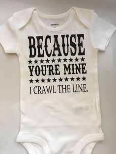 17be6e54992f Baby boy baby girl bodysuit- I Crawl the line baby - Johnny Cash baby -