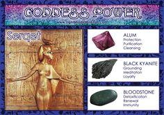 Goddess Power: Serqet - Stones: Alium, Black Kyanite and Bloodstone