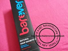 I got a sample of Barever Natural Hair Inhibitor about 2 months back and have been trying it out. This is a newly launched product which claims to remove hair permanently just by applying the cream after your regular hair removing routine.