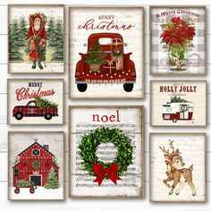5 Free Vintage Truck Christmas Printables: Get these free classic vintage Christmas prints for your holiday home! Christmas Party Games, Outdoor Christmas Decorations, Christmas Signs, Rustic Christmas, Christmas Ornaments, Vintage Merry Christmas, Diy Christmas, Christmas Truck, Christmas Themes