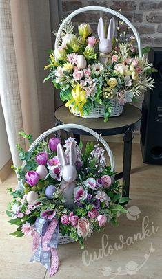 Basket Flower Arrangements, Easter Baskets, Funeral, Table Decorations, Flowers, Cards, Diy, Inspiration, Home Decor